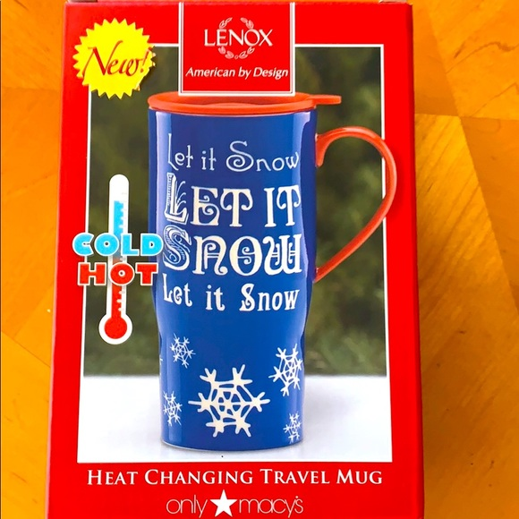 Lenox travel mug mint in box magic